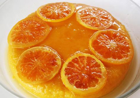Pudin de calabaza y naranja