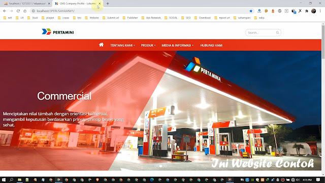 Website dan CMS Portal Informasi Perusahaan v1