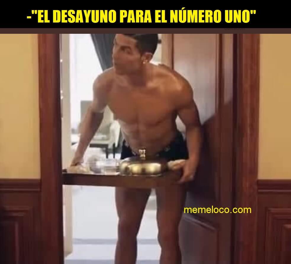 messi vs cristiano ronaldo desayuno