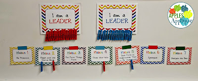 Keeping Organized with Two Half Day Classes. Color coded student recognition chart. | Apples to Applique