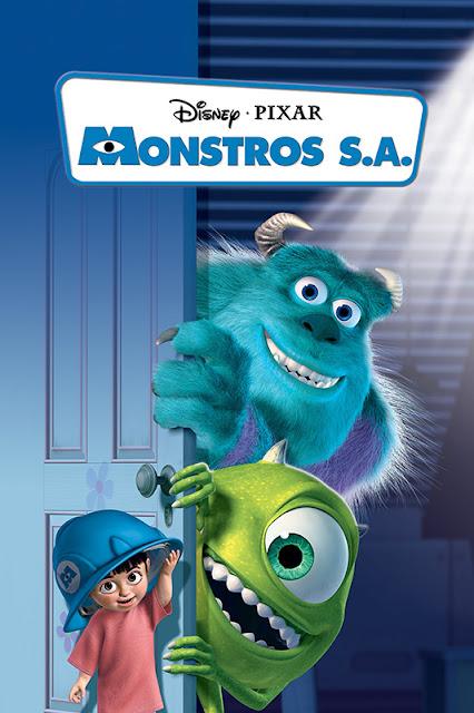 Cartel de la película de animación de Pixar Animation Monsters S.A.