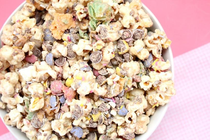 easter popcorn mix
