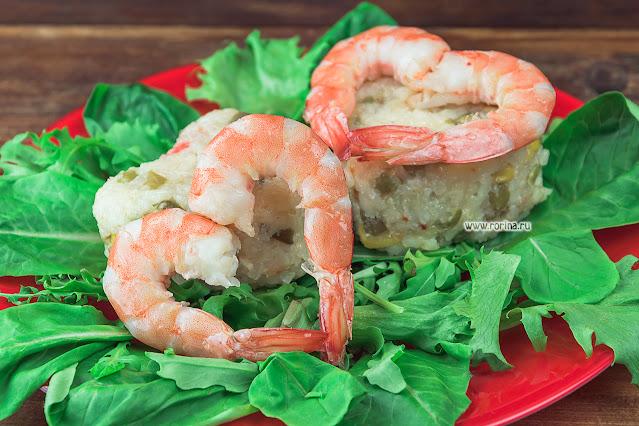 Романтический ужин с креветками: фото
