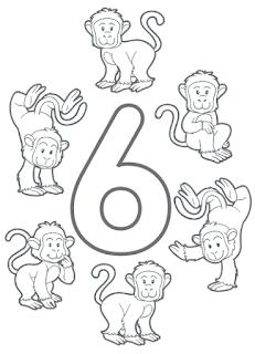 Imagenes de numeros para colorear