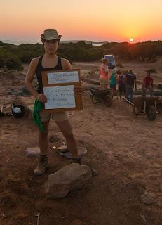Archaeologist Rachel Kulick in Crete