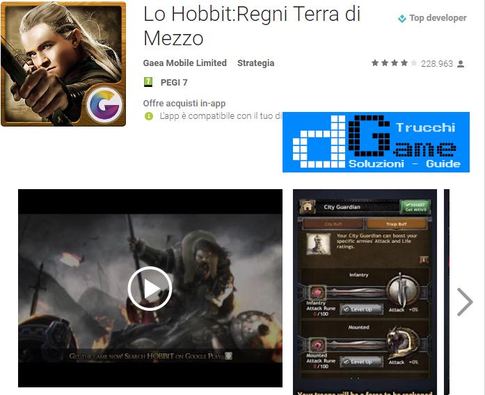 Trucchi  Lo Hobbit:Regni Terra di Mezzo Mod Apk Android v2.3.3