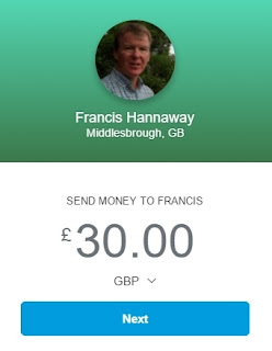 PayPal is the easy way to donate to Francis' work in Basankusu, DR Congo. Click the link and choose GBP as currency