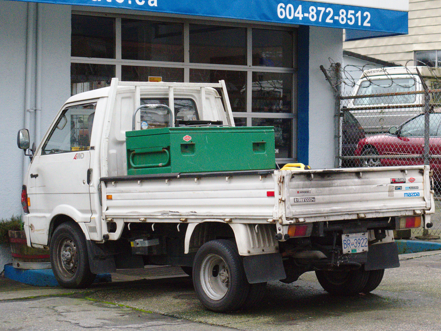 Old Parked Cars Vancouver: 1990 Mazda Bongo truck