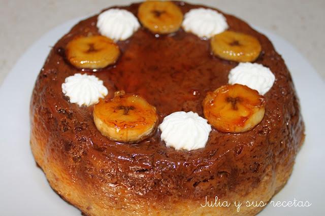 Pudin de plátano y magadalenas. Julia y sus recetas