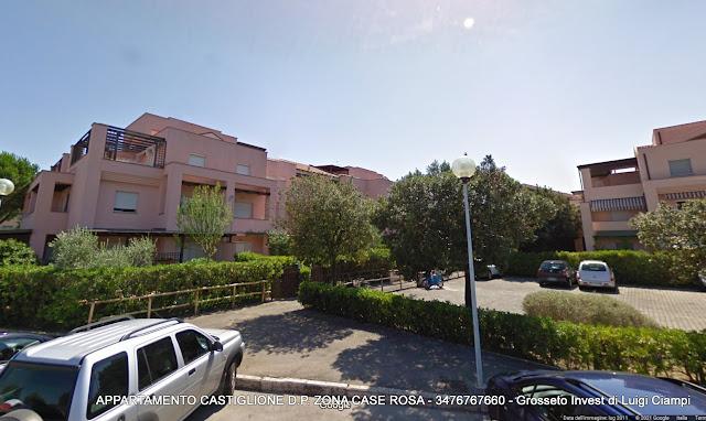 Castiglione-della-Pescaia, case rosa, veduta del condominio