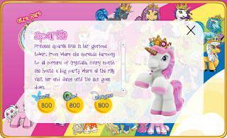 Princess Sparkle of Crystalia toy bio