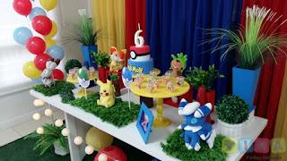 Decoração de festa infantil Pokémon
