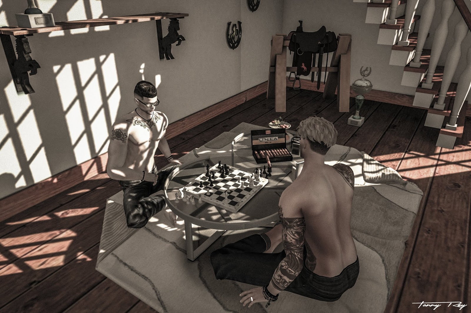 GAY-WAY - Linea MM Living Chess Table