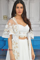 Telugu Actress Amyra Dastur Stills in White Skirt and Blouse at Anandi Indira Production LLP Production no 1 Opening  0108.JPG