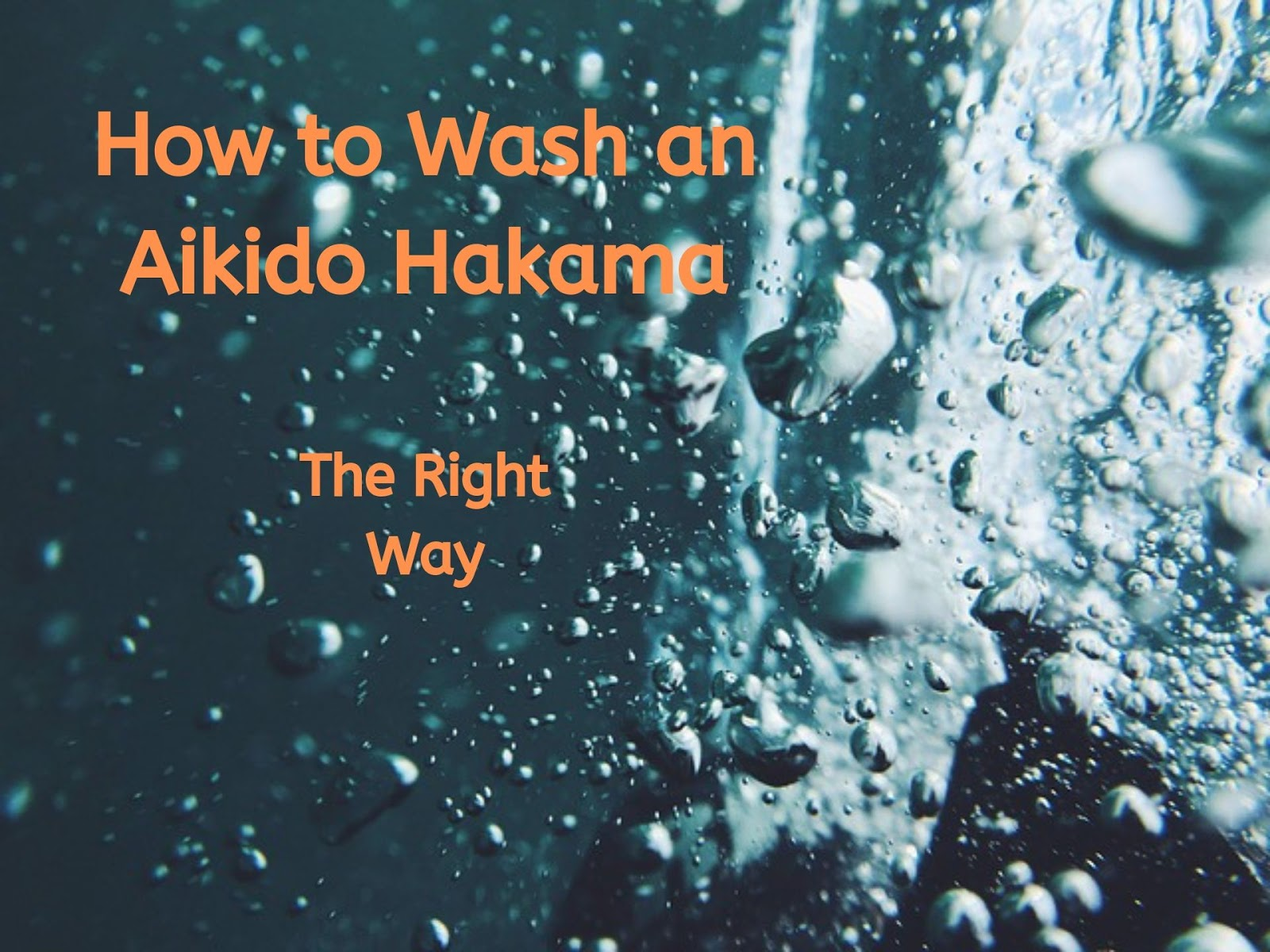 How to Wash an Aikido Hakama - The Right Way