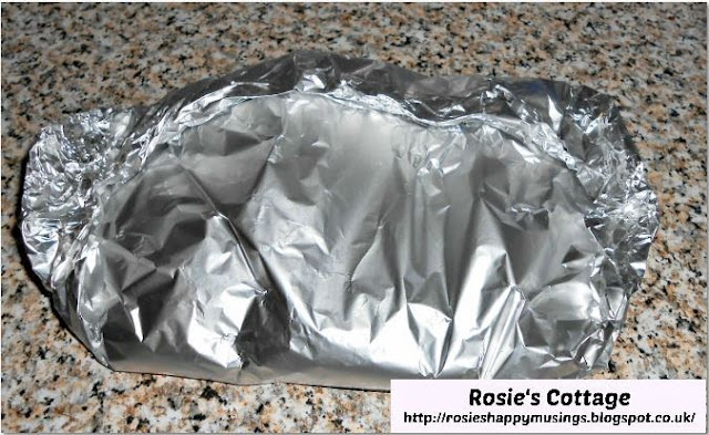 Rosie's Chilli Chicken Fillet Burgers & Lemon Mayonnaise - carefully fold the edges of the baking foil together to form a seal, leaving enough room for the chicken to cook.