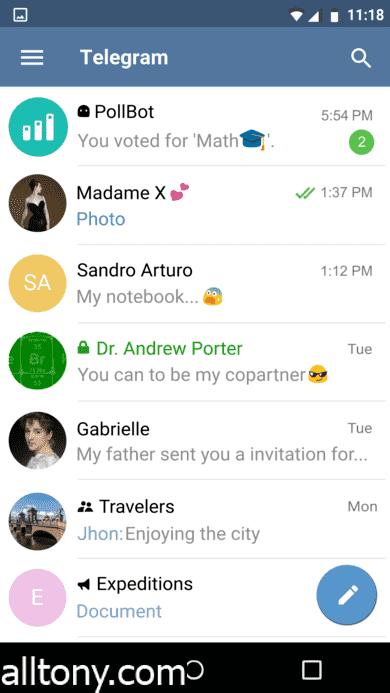 تحميل تطبيق تيليجرام Telegram Messenger للأيفون والأندرويد أحدث أصدار