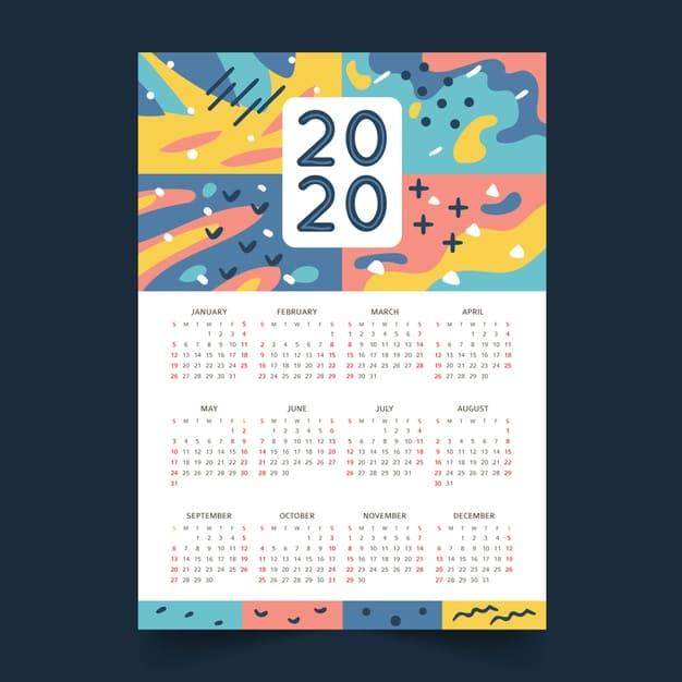 Plantilla 2020 para editar abstracto