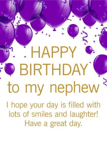 Happy Birthday Nephew. Have an amazing year. I love you!
