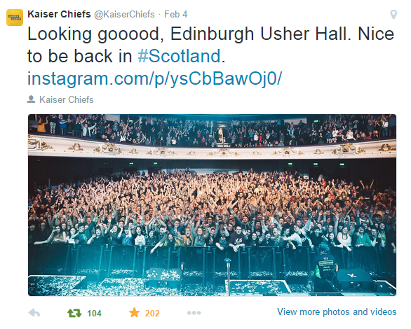 Music | Kaiser Chiefs at the Usher Hall