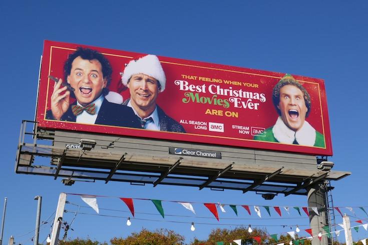 Best Christmas Movies Ever on AMC billboard