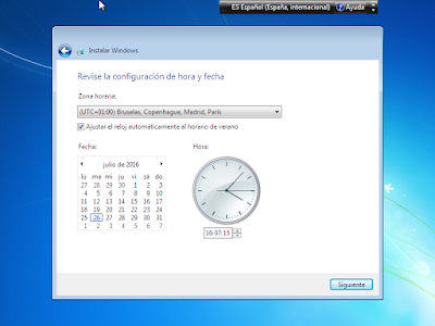 hora y fecha windows 7 usb