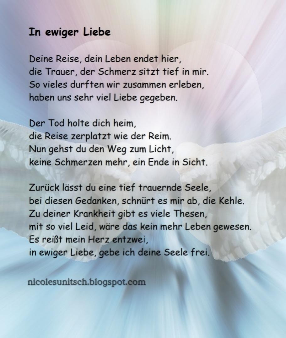 Gedichte Von Nicole Sunitsch Autorin In Ewiger Liebe