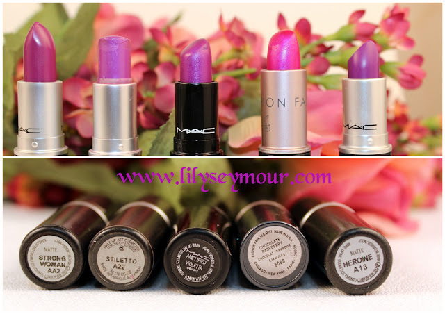 Mac Heroine Fashion Set Comparisons and Swatches
