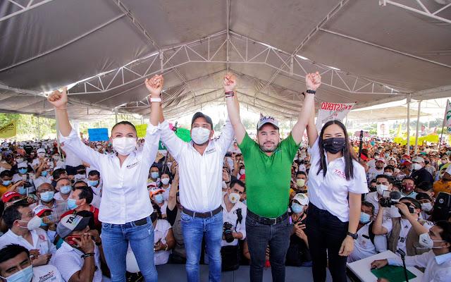 En el distrito 07 local acomparán al cierre de Taja Ana Lilia Garzón y Ricardo Astudilo