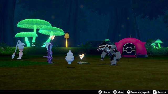 Camping Pokémon Espada Escudo
