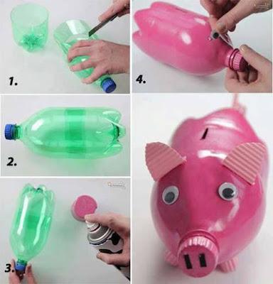 reciclar reciclando reciclagem diy faça voce mesmo garrafa pet embalagem artesanato reutilizavel reutilizando sustentabilidade cofre cofrinho porquinho
