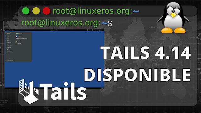 Tails 4.14, con Linux 5.9 y soporte para Ledger