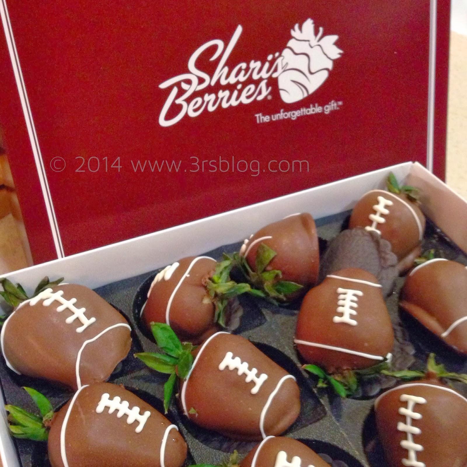 Chcolate Dipped Football Strawberries SharisBerries