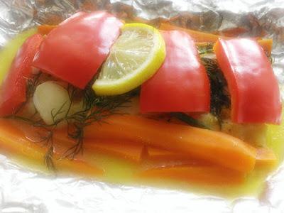 Dorsz z chrupiącymi warzywami