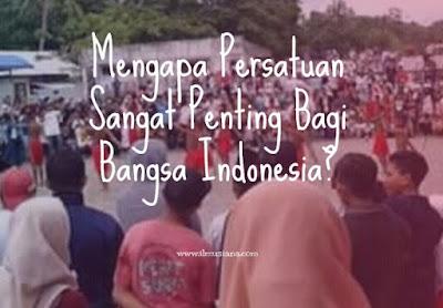 Mengapa Persatuan Sangat Penting Bagi Bangsa Indonesia