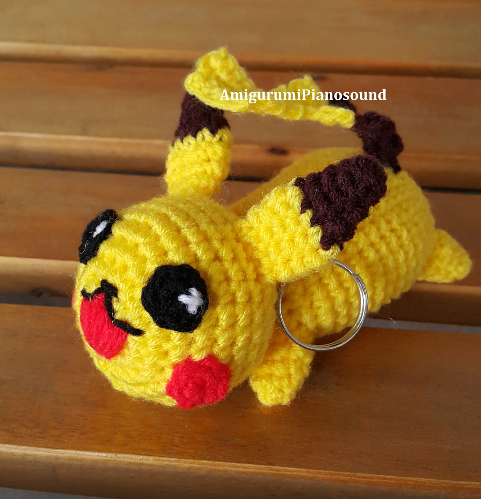 Amigurumipianosound Crochet Blog Pikachu Keychain Pattern