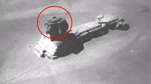 Raras imágenes muestran cómo acceder a las cámaras secretas debajo de la Esfinge