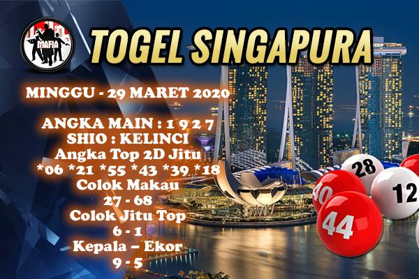 Prediksi Togel Singapura Minggu 29 Maret 2020 - Prediksi Mafia