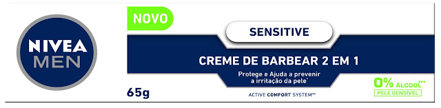 Creme de barbear Nivea for Men Sensitive