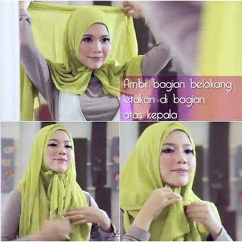 Tutorial%2BHijab%2BSegi%2BEmpat Hanya 1 Menit, Tutorial Hijab Segi Empat Paling Cepat + Video
