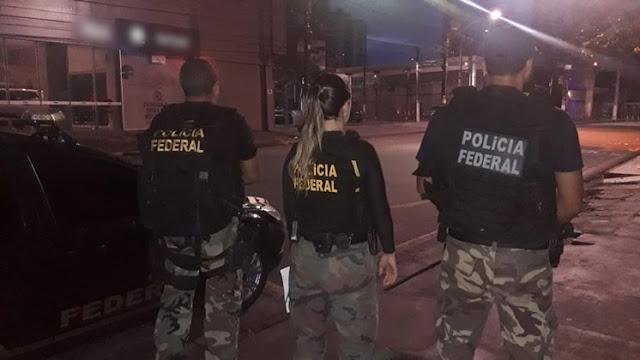Federais durante a Operação Canafístula, que tem Eduardo Sá entre os alvos