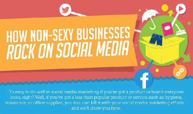 How Non-Sexy Businesses Rock on Social Media #infographic
