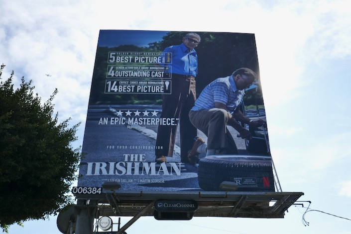 Irishman awards nominee billboard