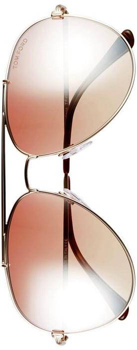 Tom Ford Indiana 60mm Aviator Sunglasses Rose Gold