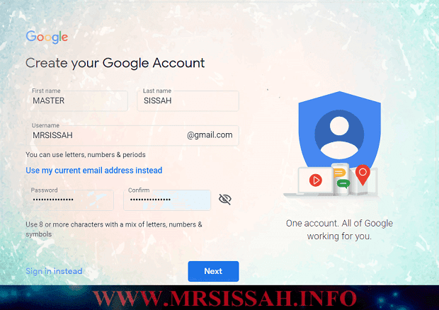 how to make Gmail account