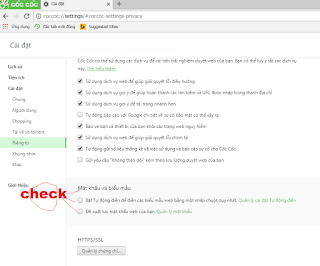 Cách lưu mật khẩu trên Cốc Cốc với các tài khoản Facebook, Gmail, Yahoo... a