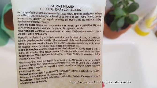 mascara Il Salone Alfaparf Brilho e Vitalidade