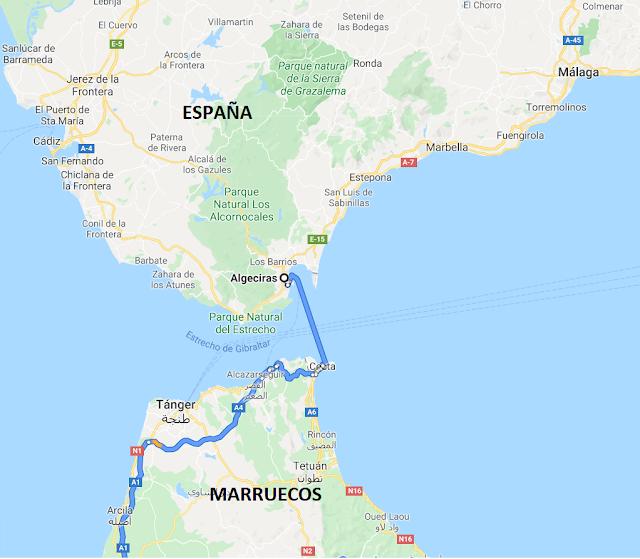 llegar a Marruecos en coche desde España
