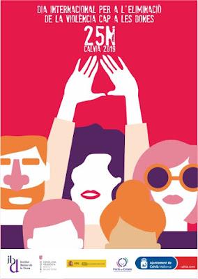 Cartel poster para el 25N Día Internacional de la eliminación de la violencia contra las mujeres Calvia 2020