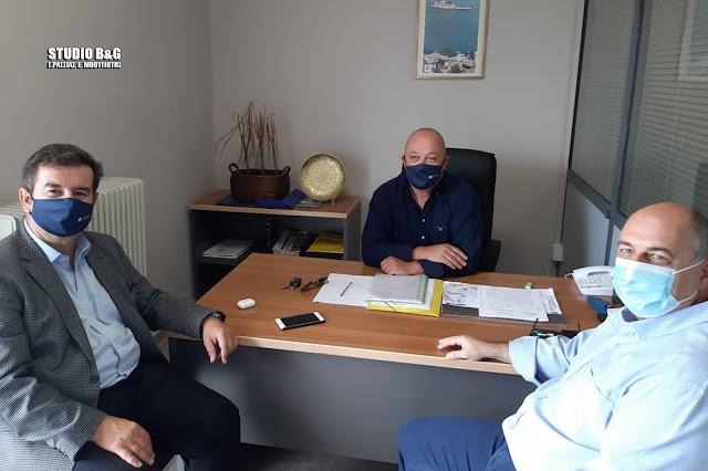 Επίσκεψη του Προέδρου της ΕΠΣ Λακωνίας στην Αργολίδα - Συνάντηση με Μαλτέζο και Μαντζούνη